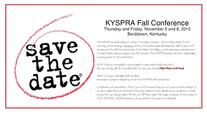 KYSPRA 2015 save the date